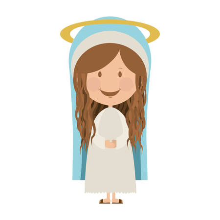 holy family: virgin mary holy family icon image vector illustration design