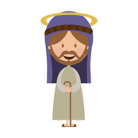 holy family: st joseph holy family icon image vector illustration design