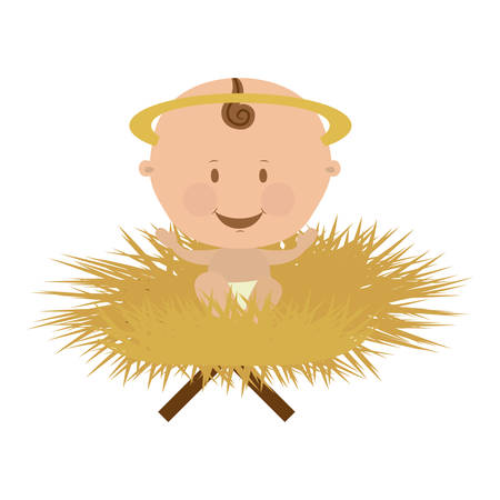 baby jesus holy family icon image vector illustration design