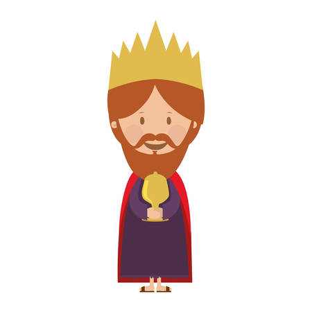 balthazar: gaspar magi or wise men  icon image vector illustration design