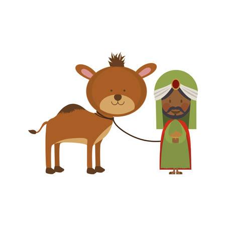 myrrh: balthazar magi or wise men  icon image vector illustration design Illustration