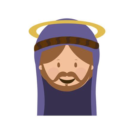 st  joseph: st joseph holy family icon image vector illustration design