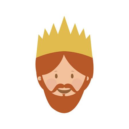 caspar: gaspar magi or wise men  icon image vector illustration design