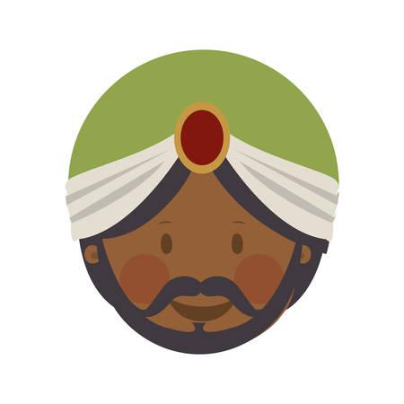 balthazar magi or wise men  icon image vector illustration design Stock Illustratie