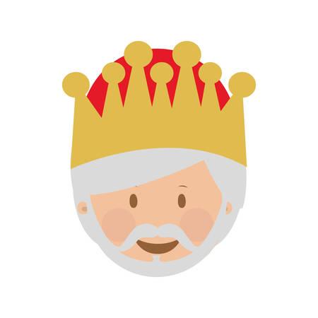 melchior magi ou hommes sages image d'icône de conception d'illustration de vecteur