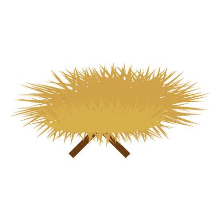 haystack and sticks icon image vector illustration design