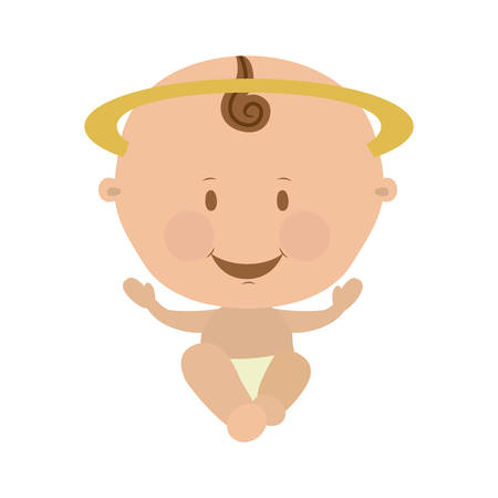 sacra famiglia: Gesù bambino sacra famiglia illustrazione immagine vettoriale icona