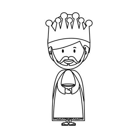 caspar: melchior magi or wise men icon image vector illustration design