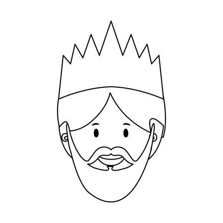 myrrh: gaspar magi or wise men  icon image vector illustration design