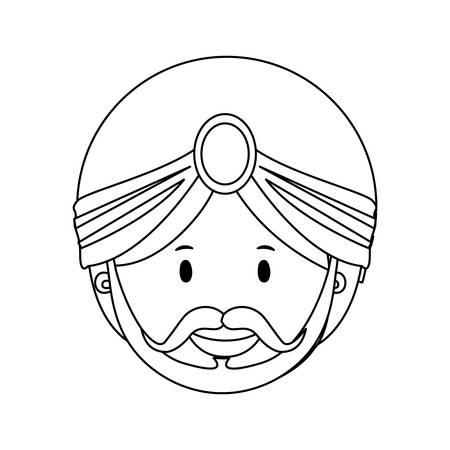 caspar: balthazar magi or wise men  icon image vector illustration design Illustration