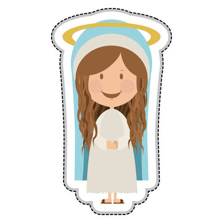 sacra famiglia: Vergine Maria sacra famiglia illustrazione immagine vettoriale icona