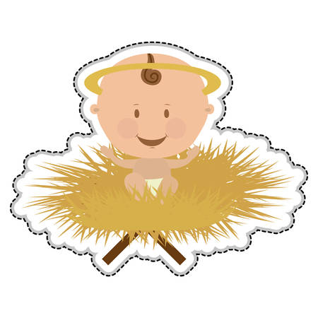 nativety: baby jesus holy family icon image vector illustration design