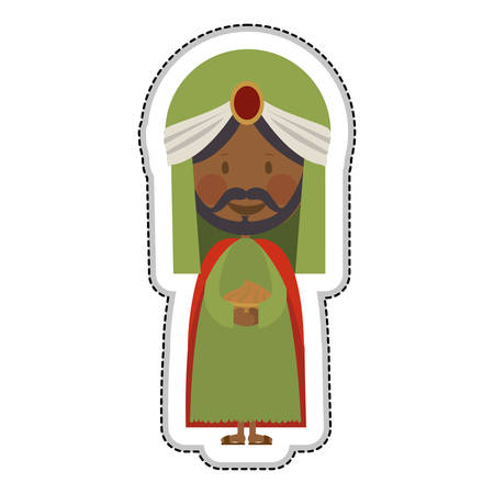 balthazar magi or wise men icon image vector illustration design