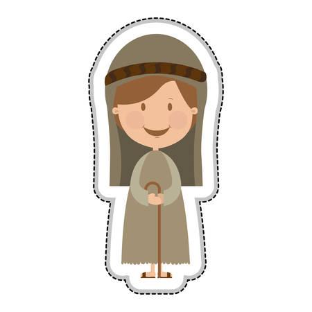 sacra famiglia: San Giuseppe sacra famiglia illustrazione immagine vettoriale icona Vettoriali