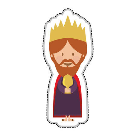 gaspar magi or wise men icon image vector illustration design Illustration
