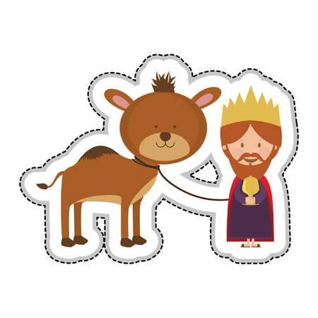 myrrh: gaspar magi or wise men icon image vector illustration design Illustration