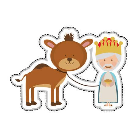 myrrh: melchior magi or wise men icon image vector illustration design