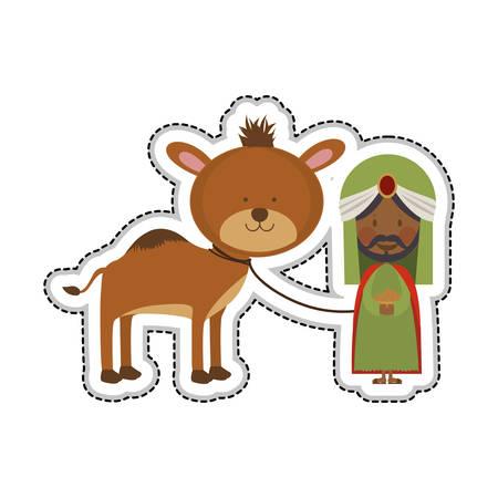 myrrh: balthazar magi or wise men icon image vector illustration design
