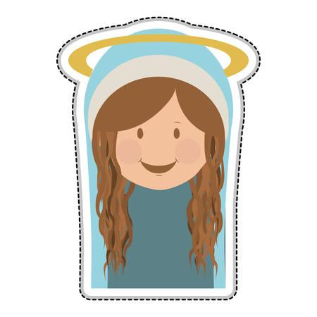 sacra famiglia: virgin mary holy family icon image vector illustration design