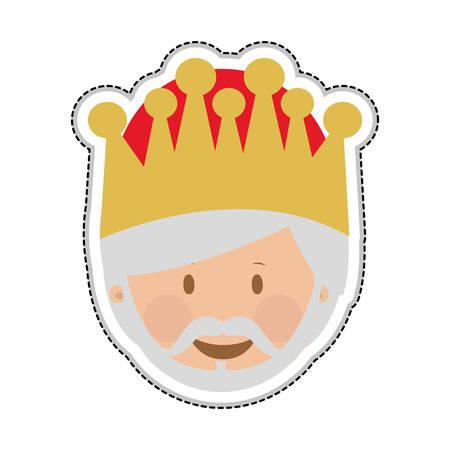 melchior magi or wise men icon image vector illustration design