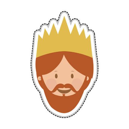 caspar: gaspar magi or wise men icon image vector illustration design Illustration