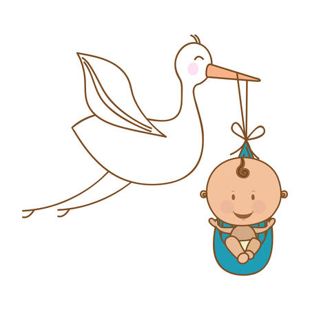 baby delivery: baby delivery crane icon image vector illustration design