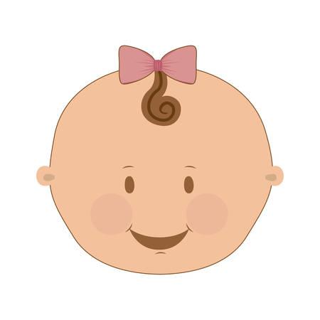 niña linda imagen de icono ilustración vectorial de diseño