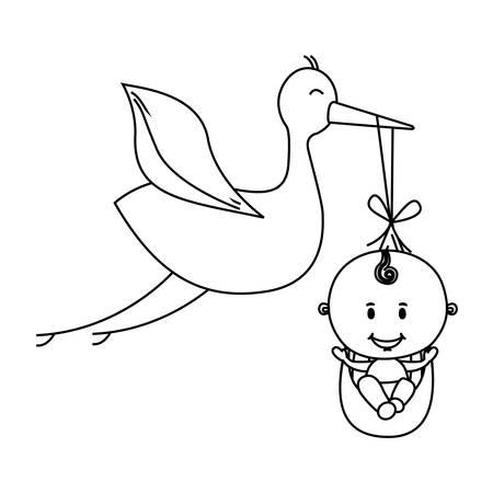 Babylieferungs Kran Design-Ikone Bild Vektor-Illustration