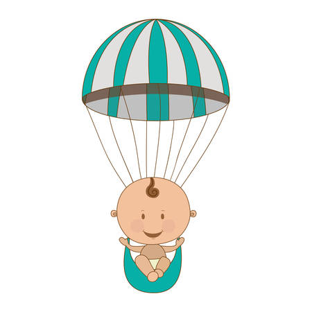 cute baby boy icon image vector illustration design