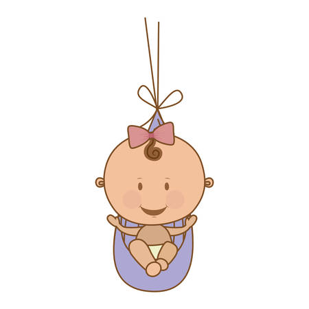 cute baby girl icon image vector illustration design