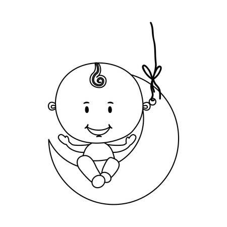 niño lindo, imagen del icono ilustración vectorial de diseño