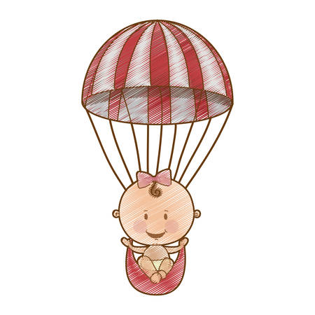 cute baby girl icon image vector illustration design