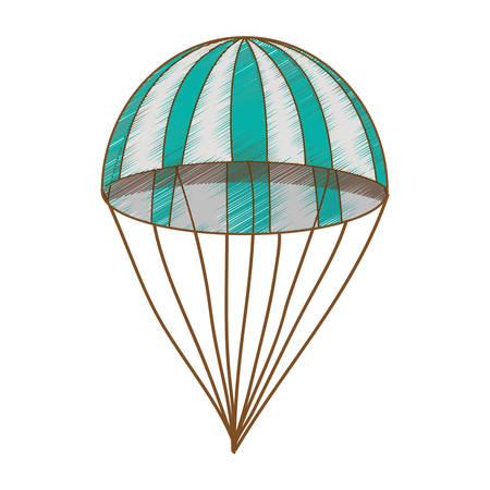 striped parachute icon image vector illustration design Illustration