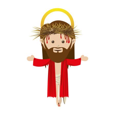 holy family: jesus holy family icon image vector illustration design