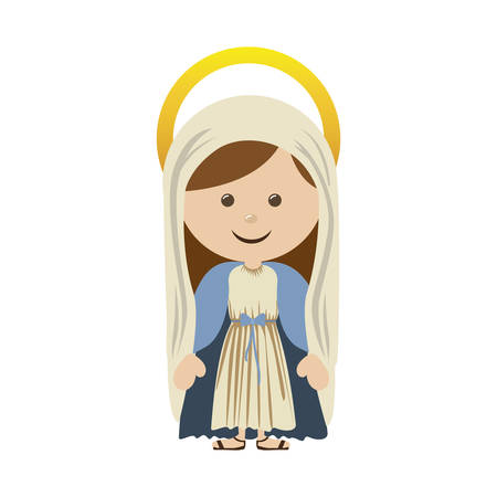 sacra famiglia: virgin holy family icon image vector illustration design Vettoriali