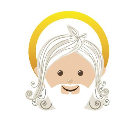 god representation icon image vector illustration design Illustration