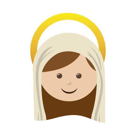 nativety: virgin holy family icon image vector illustration design Illustration