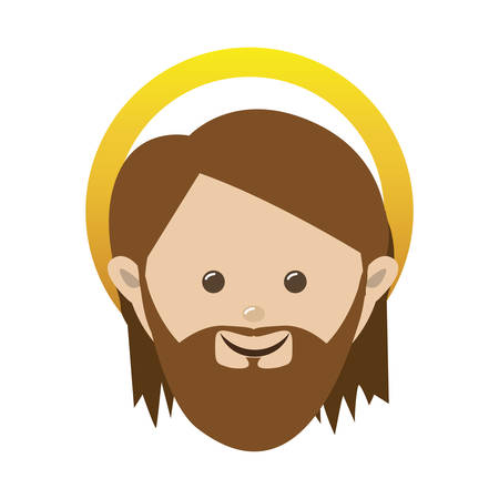 saint joseph holy family icon image vector illustration design