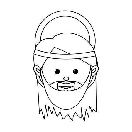 holy family: saint joseph holy family icon image vector illustration design