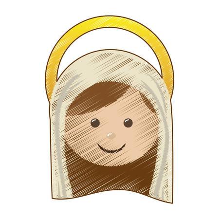 sacra famiglia: icona di famiglia illustrazione immagine vettoriale progettazione Santa Vergine