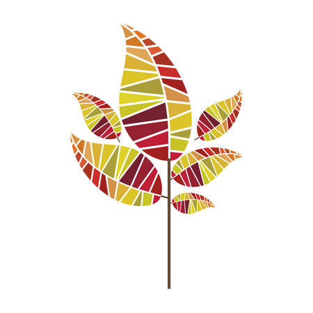leaf abstract icon image vector illustration design