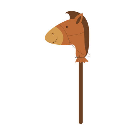 stick horse toy icon image vector illustration design Ilustrace