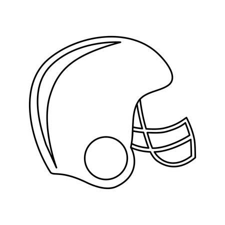 american football helmet icon image vector illustration design