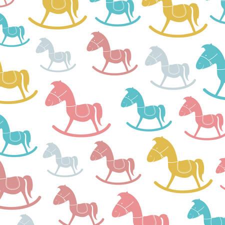 wooden horse: wooden horse icon pattern background  image vector illustration design