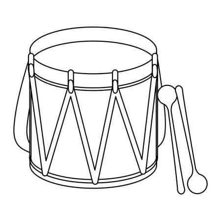 bass drum: parade drum icon image vector illustration design