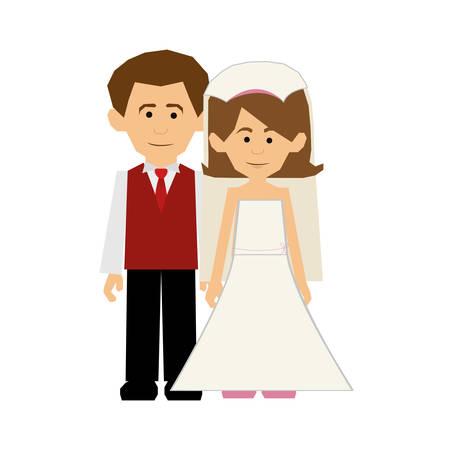 newlywed: newlywed couple icon image vector illustration design