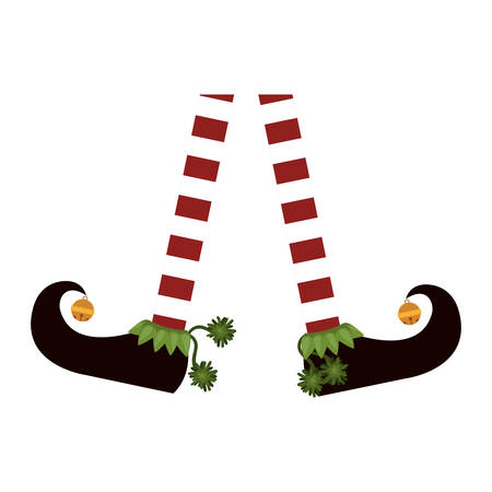 color image with feet apart of gnome vector illustration