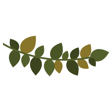 christmas leaf Silhouette with ramifications vector illustration