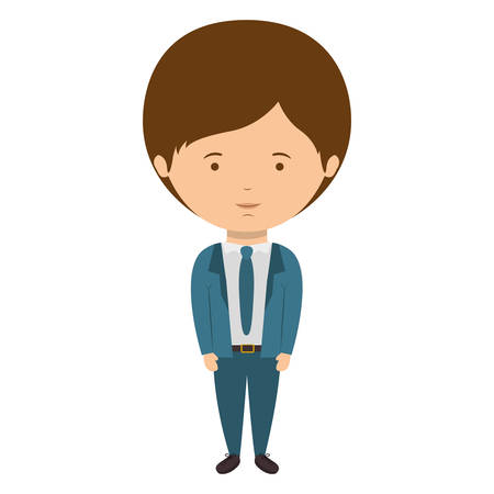 bussinesman: man dressed formal style with tie vector illustration