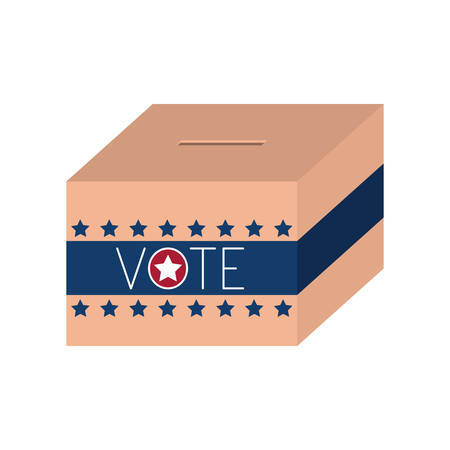 conscientious: Box icon. Vote president election government  and campaign theme. Isolated design. Vector illustration
